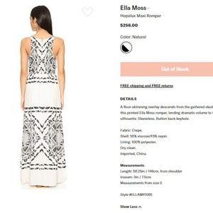 2c1039eb6fe Anthropologie Dresses - Ella Moss Hopelux Maxi Romper